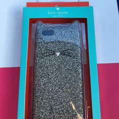 Kate Spade iPhone 6/6s Cat case This is an authentic new in box Kate Spade silver glitter silicone iPhone 6/6S case. Never been used. kate spade Accessories Phone Cases