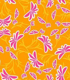 Modkid Studio by Patty Young Breezy Tangerine Fabric