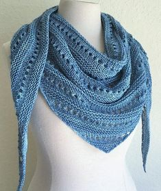 This is a small triangular shawlette that is worked from the bottom up. It displays beautiful rows of eyelets separated by rows of garter. Knit Or Crochet, Crochet Shawl, Knitting Stitches, Knitting Patterns, Shawl Patterns, Knit Picks, Knitting Accessories, Knitted Shawls, Shawls And Wraps