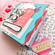 Dia dos Namorados - Valentine's Day - mini album Crate Paper Crate Paper, Studio Calico, Drake, Ox, Scrapbook, Phone Cases, Album, Happy, Valentines Diy