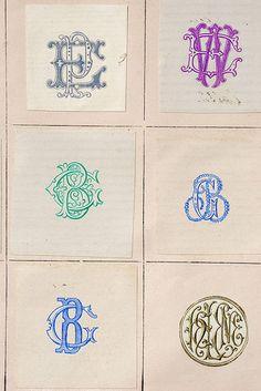 Monograms 6-up by Letterologist, via Flickr