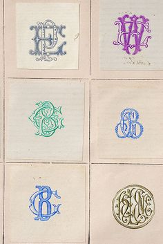 Monograms 6-up by Letterologist, via Flickr