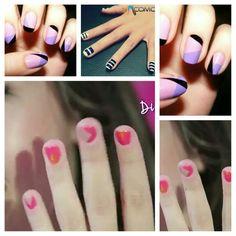 Entra a youtube y busca: ¡Pinta tus uñas con Nanny by Nosotras! - YouTube ella te va a enseñar a pintar las uñas con cinta