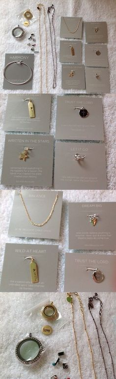 Mixed Items and Lots 10970: Origami Owl Jewelry Lot 2 Lockets Chains Bangle Charms Plate Nice Bling Lot -> BUY IT NOW ONLY: $80 on eBay!