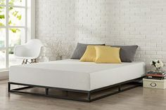 #FeedtheChildren This sturdy modern Studio platform a mattress foundation is designed for strength and style. Perfect for higher profile mattresses or those pre...