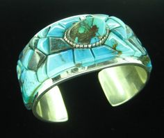 Tommy Jackson Sterling Silver Cuff Bracelet.   http://www.leotasindianart.com/    #nativeamericanjewelry    #turquoisejewelry