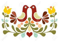 Folk Art Bird Vector Royalty Free Cliparts, Vectors, And Stock Illustration. Image 10480795.