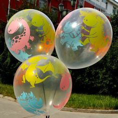 Dinosaur Print Clear Latex Balloons, Party Wedding Balloon, Birthday Event Decor, Celebration Party Supplies, Colorful Air And Helium Filled by MissionRainbow on Etsy https://www.etsy.com/listing/550427621/dinosaur-print-clear-latex-balloons