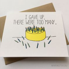 Snarky birthday card #birthday #snarky #BEpaperie