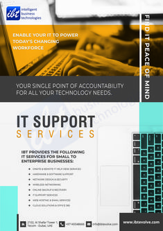 With IBT your IT Infrastructure resources and operations are working in tune with your needs. Our AMC service ensures a proper maintenance and support to the systems by keeping it in a consistent way. Ace Logo, Remote Assistance, Computer Repair Services, Enterprise Business, Pc Repair, Help Desk, Companies In Dubai, Banner Design, Cover Design