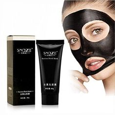 Blackhead Remover Tearing Style Deep Cleansing Purifying Peel Off the Black Head Acne Treatment Black Mud Face Mask