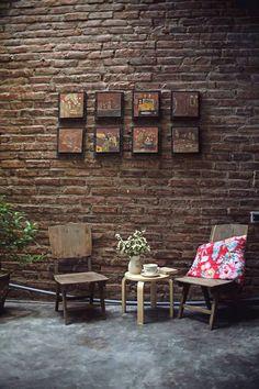 Metal Wall Art Home Decoration Restaurant Interior Design, Shop Interior Design, Cafe Design, Interior Decorating, Loft Cafe, Mini Cafe, Vintage Cafe, Coffee Shop Design, Cafe Shop