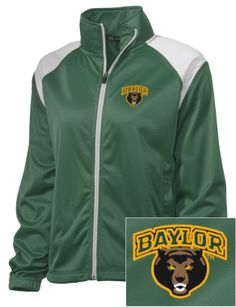 #Baylor Bears Embroidered Women's Tricot Track Jacket