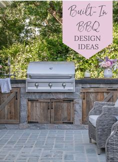 Design ideas for a simple and rustic built in BBQ area for your backyard. Given the rustic nature of our garden, we also didn't want a ton of stainless steel doors on the front of the BBQ center, so we decided to use some reclaimed barn wood that was leftover from when we built our barn. Outdoor Projects, Outdoor Ideas, Outdoor Decor, Outdoor Rooms, Patio Ideas, Garden Ideas, Country Patio, Country Living, Modern Farmhouse Design