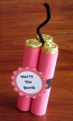 Is your LOVE the BOMB?! | Sweetest Day Candy Gift Ideas - Cute and Fun Gifts For Girls & Boys by DIY Ready at http://diyready.com/10-sweetest-day-gift-ideas/: