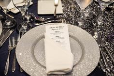Silver wedding decor; A City Wedding at The Hyatt Regency Jersey City on the Hudson