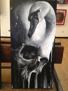 Skull painting by Florian Karg - Skullspiration.com - skull designs, art, fashion and more