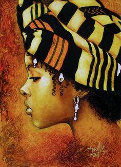Cuadros de colores rojizos, dorados, tierra....que nos muestran una pequeña parte de lo hermoso de África. ...