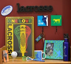 We have so many cool room decorations for lacrosse guys! Here's a great collection that we put together. Don't forget any piece, shop today!