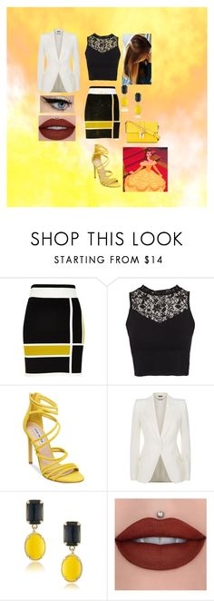 """Modern Business Woman Belle"" by jujuxx33 ❤ liked on Polyvore featuring River Island, NLY Trend, Steve Madden, Alexander McQueen, 1st & Gorgeous by Carolee, Dolce&Gabbana and modern"