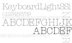 Download free KeyboardLightSSi font, keybls__ ttf