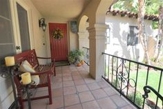 Another romantic Porch on a Spanish Style Home in Glendale...