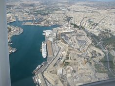 This is #Malta through the eyes of a Magician. Stunning shots by Brian Role'. Aerial view of the #GrandHarbour in #Valletta #travel © Brian Role'