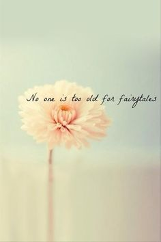 No one is too old for fairytales. thedailyquotes.com