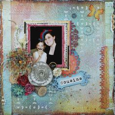 """Cousins"" by Tracey Sabella with the ScrapThat! ""Sunrise to Sunset"" June Kit"