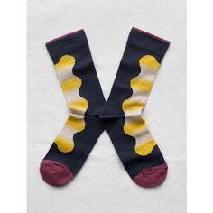 BONNE MAISON Abstract Sock (165 NOK) ❤ liked on Polyvore featuring intimates, hosiery, socks, mid calf socks and bonne maison socks