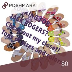 TONS OF JACK ROGERS! Colors and sizes!!! Let me know if you're looking for a size or color. Prices are negotiable using Merc with free shipping. Xoxo!! Jack Rogers Shoes