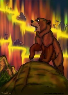 My entry for Colouring book Challenge Contest Kenai from Brother bear Original coloring page [link] Kenai Disney Fan Art, Disney Love, Disney Magic, Disney Pixar, Disney Stuff, Walt Disney, Kenai Brother Bear, Bear Gallery, Right In The Childhood