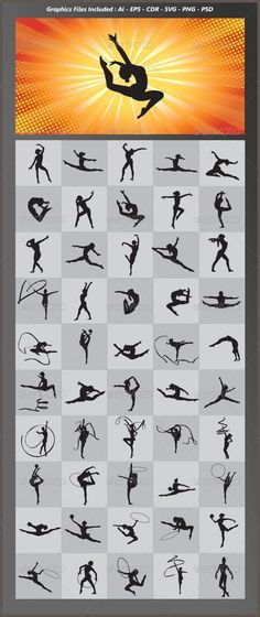 Gymnastic Silhouettes - Sports/Activity Conceptual