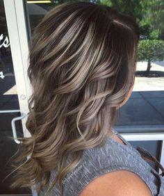 Blond Ash, Brown Blonde Hair, Brunette Hair, Dark Hair, Hair Color And Cut, Ombre Hair Color, Brown Hair Colors, Non Blondes, Hair Highlights