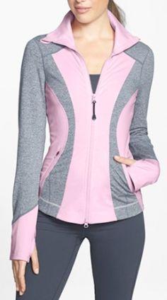 Zella 'Seasons' Mélange Jacket available at Sport Fashion, Fitness Fashion, Womens Fashion, Sporty Outfits, Fashion Outfits, Modele Hijab, Workout Wear, Casual Wear, Lounge Wear
