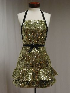 Fun one of a Kind New Years Eve Party Apron!