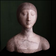 Medieval sculpture, Palermo Regional Gallery, Palazzo Abatellis, Sicily  Bust of a Noblewoman (Eleonora d'Aragona) by Francesco Laurana