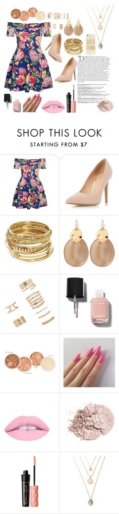 """Untitled #3"" by julietarequena on Polyvore featuring New Look, Dorothy Perkins, ABS by Allen Schwartz, Alexis Bittar, Forever 21, Chanel, Balmain, Benefit and Sonix"