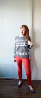 winter outfits red pants ootd