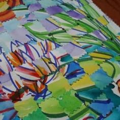 Permanent Marker and Watercolor Resist Weaving {Craft Paint}