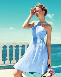New Dress Summer Blue Colour Ideas Trendy Dresses, Tight Dresses, Blue Dresses, Casual Dresses, Short Dresses, Formal Dresses, Glamour, Diy Dress, Dress Up