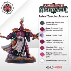 r/Warhammer - Hey guys just uploaded my painting guide for the Astral Templar Cursebreakers. Hope it's helpful! Warhammer Paint, Warhammer Fantasy, Warhammer 40000, Warhammer Aos, Painting Tips, Figure Painting, Painting Techniques, Painting Tutorials, Heavy Metal