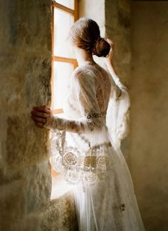 There in the window she captured the sunlight and became its warmth... xo