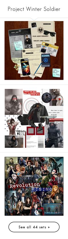 """Project Winter Soldier"" by ingrid ❤ liked on Polyvore featuring art, Marvel Comics, MW Matthew Williamson, She's So, Love Quotes Scarves, Beautiful People, Yves Saint Laurent, Burfitt, Sebastian Professional and Hygge & West"