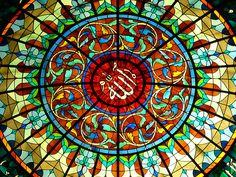 Mosque window in Brunei, Islamic Stained Glazing