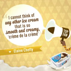 Who agrees with creamy County Fresh super fan, Elaine Chetty, ice cream lovers? I Can Not, Creme, Ice Cream, Smooth, Lovers, Fan, No Churn Ice Cream, Icecream Craft, Hand Fan