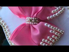 Passo a passo: Laço de fita de cetim e manta de strass/DIY Satin ribbon - YouTube