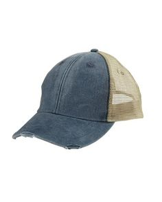 30741b74ebd80 Navy Structured Mid-Profile Trucker Hat