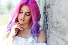 Romy dress by @ukulelefashion modelled by #NivesArrigoni #pinkhair #3dfashion #whitedress #fashion