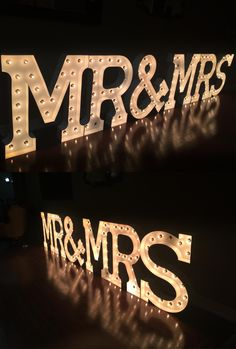 Large Mr & Mrs Marquee Letters + MR & MRS Lightning Letters For Rent in Toronto | GTA Area
